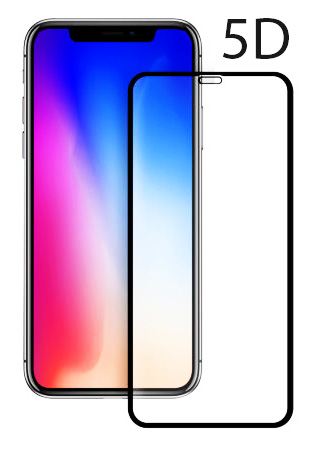 POWERTECH Tempered Glass 5D Full Glue για iPhone XS