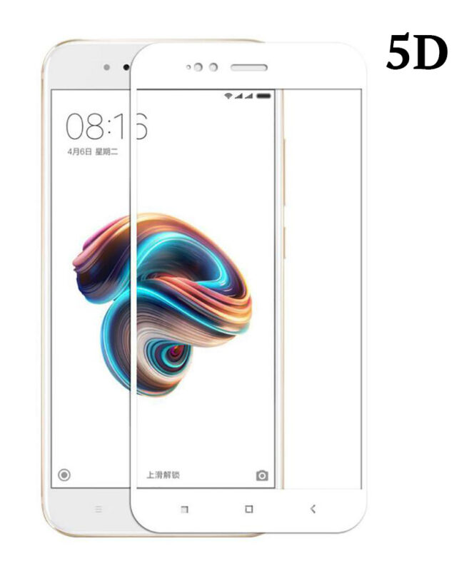 POWERTECH Tempered Glass 5D Full Glue για Xiaomi Mi A1 Qualcomm